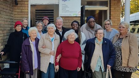 AGE UK Ambury Road day centre staff and users of the centre