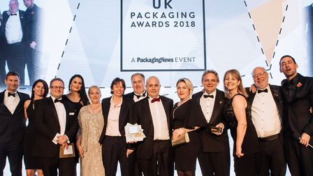 The Charpak team at the UK Packaging Awards. Picture: LEO JOHNDON