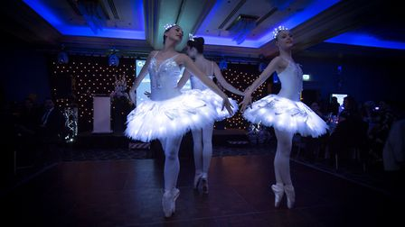 A ballerina trope at the Quantum Care Annual Care Awards at Sopwell House, St Albans. Picture: Mark