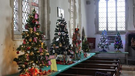 A Christmas Tree Festival is taking place at St John's Church in Somersham. Picture: CONTRIBUTED