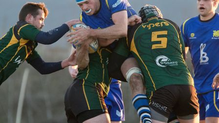Ollie Raine scored the opening try during a man-of-the-match performance as St Ives thumped Vipers.