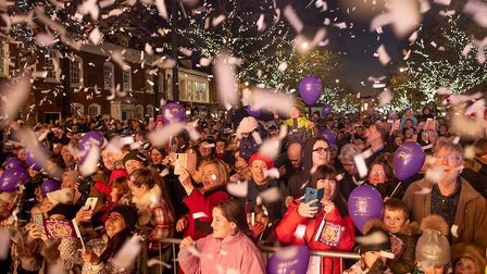 The St Albans Christmas lights switch-on on Sunday, November 18. Picture: Stephanie Belton.