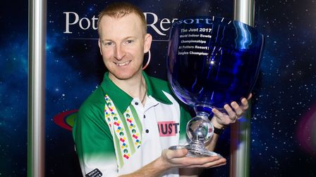 Nicky Brett hopes to wind the World Indoor Bowls Championship for a second time. Picture: TONY RUSHM