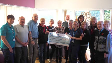 Royston Runners raised money for gym equipment for Letchworth-based Garden House Hospice Care. Pictu