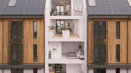 Going green: There are many ways of making your home more sustainable. Picture: Verto Homes/PA