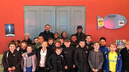 The London Colney Youth Football Club appeared in EastEnders alongside Danny Dyer. Picture: Donna La