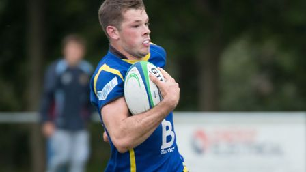 Ollie Raine scored one of the St Ives tries in their loss at Long Buckby. Picture: PAUL COX