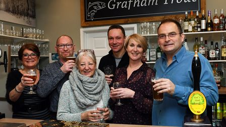 Tina Theodorou, Margaret Life, Kevin Sharpe, Chris Woodhall, Lucy Maurico, and Jan Draycott at the G