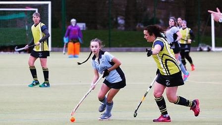 Chloe Cundick hit one of the goals as St Neots Ladies 2nds enjoyed a top-of-the-table triumph. Pictu