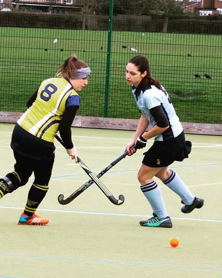 Captain Rosanna Sabatino in action for St Neots Ladies 2nds as they beat Chiltern 1sts. Picture: ADA