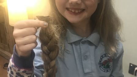 St Albans girl cuts hair off to help others