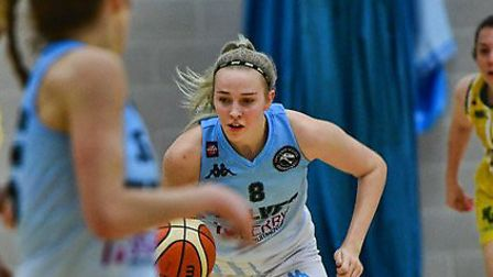 Tia Freeman put in a starring performance for Oaklands Wolves in their big WBBL win over Nottingham