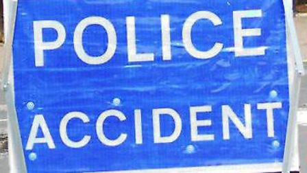 Police are at the scene of an M1 crash by junction 7 near St Albans. Picture: Archant