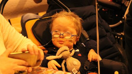Michael Latta, three, gets support from EACH charity