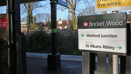 Bricket Wood Train Station. Picture: DANNY LOO