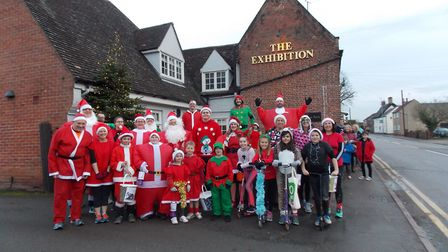 Santa Chase in Godmanchester. Picture: CONTRIBUTED