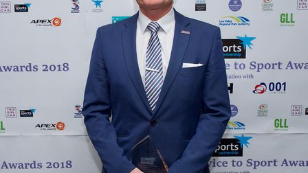 Terry Graves won the Lifetime Achievement Award at the Hertfordshire Service to Sports Awards. Pictu
