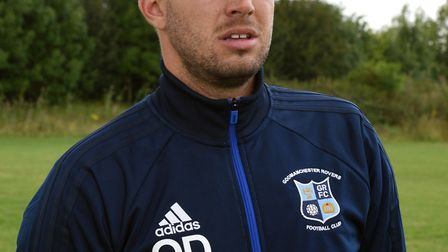 Godmanchester Rovers manager Ollie Drake.