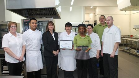 Hinchingbrooke Hospital's Catering Team has won the Health Business Award for Hospital Catering