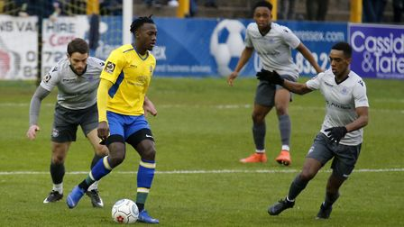 David Moyo in action against Oxford City. Picture: LEIGH PAGE