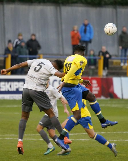 David Moyo secured all three points with a fine header late in the game. Picture: LEIGH PAGE