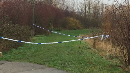 The cordoned off police scene at Loves Way