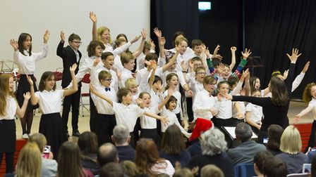Royston Music School in action at the Christmas concert. Picture: David Hatton