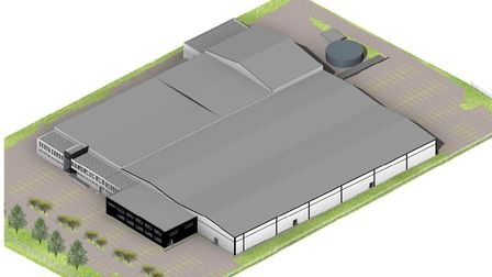 The proposed plans for the extention to the Hotel Chocolat factory in Huntingdon