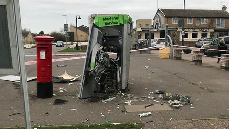 An investigation is going after the cash machine robbery in Huntingdon