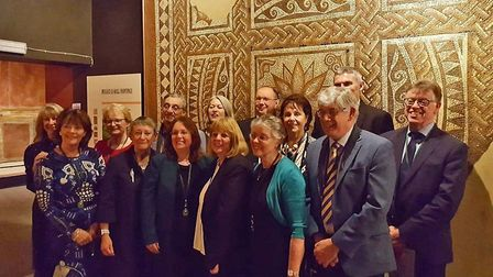 New St Albans Tour Guides at Verulamium Museum. Picture: Terry Turner