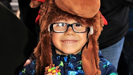 Rudolph's Christmas Trail in Royston: David Tzompov looking the part. Picture: Clive Porter