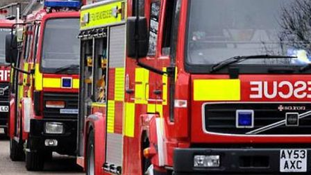 Man treated for smoke inhalation after farm fire in Haddenham. Picture: ARCHANT