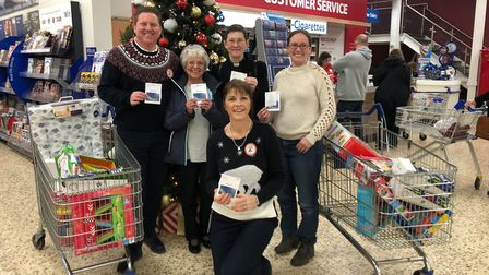 Tesco Extra in Royston has donated 500 worth of gift vouchers to St John's the Baptist Church follow