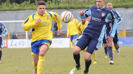 Josh McLeod-Urquhart during his first spell at St Albans City. Picture: BOB WALKLEY