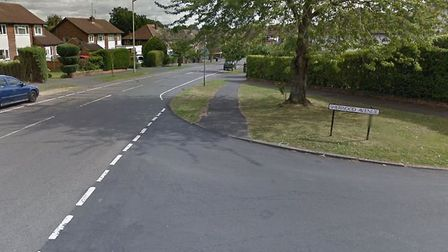 The junction between Sherwood Avenue and The Ridgeway in St Albans, where it is believed the arrests