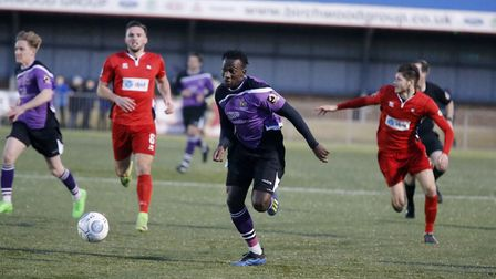 David Moyo in action against Eastbourne. Picture: LEIGH PAGE