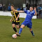Matty Allan scored Godmanchester Rovers' second goal in their win at Thetford. Picture: J BIGGS PHOT