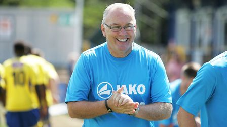 Ian Allinson celebrated 150 games in charge of St Albans City at Eastbourne. Picture: Karyn Haddo
