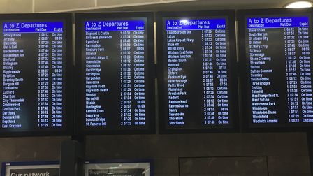 The arrivals board at Blackfriars station this morning. Picture: Govia Thameslink Railway.