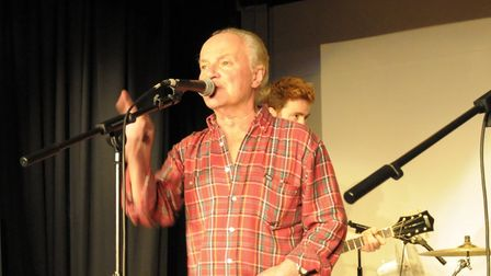 Jim Rodford (of The Zombies) joins The Runaway Boys on stage. Picture: Aidan Bell.