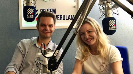 Matt Adams and Stacey Turner on Radio Verulam's Drive Time Show with Danny Smith.