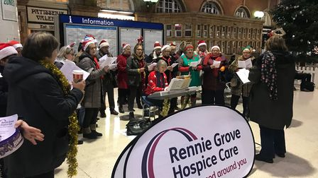 Singers raising money for Rennie Grove Hospice Care. Picture: Submitted by Rennie Grove Hospice Care