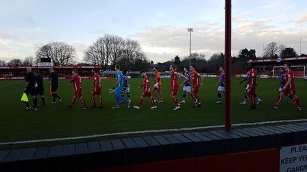 St Albans City made the short trip to Vauxhall Road to take on Hemel Hempstead Town on New Year's Da