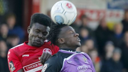 David Moyo flicks on the ball. Picture: LEIGH PAGE