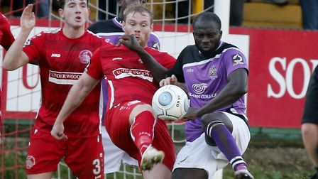 Dave Diedhiou in action against Hemel Hempstead. Picture: LEIGH PAGE