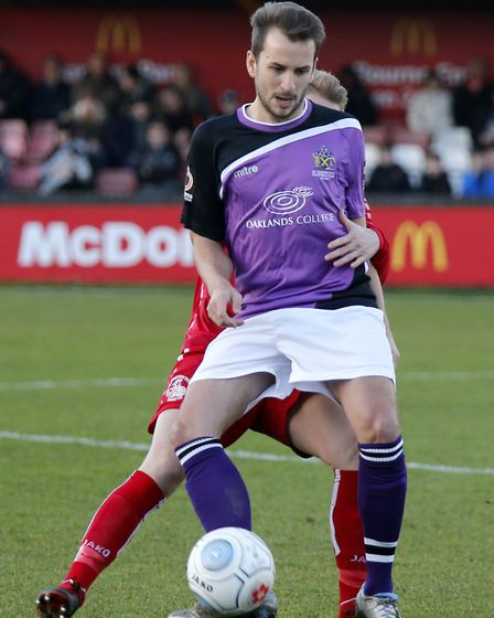 Sam Merson in action against Hemel Hempstead. Picture: LEIGH PAGE