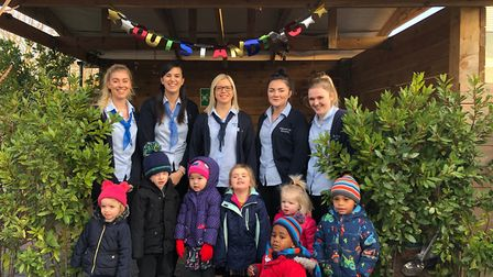 Vantage Park Day Nursery in Huntingdon celebrating their Ofsted inspection