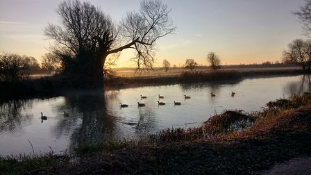 Taken from the River GreatOuse in Huntingdon in December