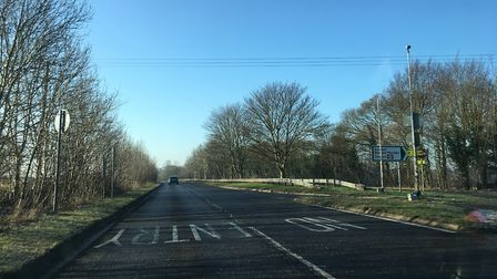 The A505 between Baldock and Royston.