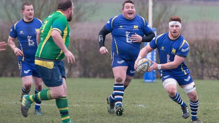 Josh Meadows (right) claimed the first St Ives try in the derby romp against Huntingdon. Picture: PA